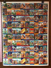 """BIBLE STORY CARDS SERIES 1 wph (1995) UNCUT SHEET of Trading Cards 28""""X38"""""""