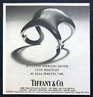 1977 Elsa Peretti Sculpted Sterling Silver Cuff Bracelet photo Tiffanys print ad