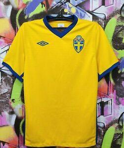 Sweden National Football Team SVFF 2010 2011 Home Soccer Jersey Shirt Top Mens L
