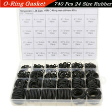 740 Pcs Boxed Thickness 1.5/2.4/3.1mm Autos Air Conditioning O-Ring Seal Gaskets