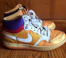 Nike Air Womens Court Force Tennis Shoes Tye Dye Orange Purple High Top Sz 9 #