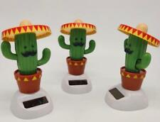 Solar Energy Turn Over Swing Cactus Car Dance Toys Home Decoration Gifts