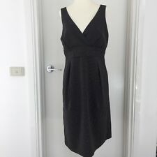 SUSSAN Black & White Sleeveless Fitted Pencil Work Corporate Dress Size12 EUC