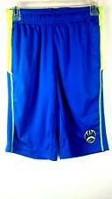 Nike Dri-Fit Shorts Youth Boys Football Running Cross-Training Blue Yellow Large