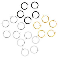20pcs Clip on Non-pierced Hoops Fake Nose Lip Ear Rings Assorted Color Rings