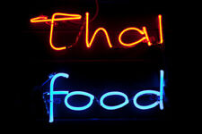 "Thai Food Restaurant Open Neon Light Sign 24""x20"" Beer Bar Decor Lamp Glass"