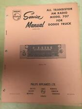 Philips Service Manual for the 707 1969 Dodge Truck Radio 2906500