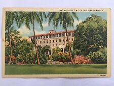 Army & Navy YMCA T.H. Downtown Honolulu postcard cir. 1940's