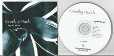 Crosby - Nash - Lay Me Down US promo CD single Tour Dates inside of insert D