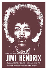 JIMI HENDRIX 1970 Tulsa OK Concert Poster