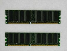 2GB 2X1GB DDR PC3200 2GB PC3200 400 LOW DENSITY DESKTOP MEMORY RAM **Tested**