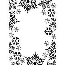Darice Embossing Folder SNOWFLAKE TRIM Christmas Snowflakes Just Out A2 1219-135