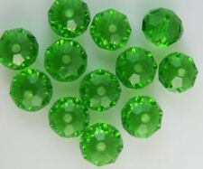 4x6mm medium green cut glass beads 500pcs