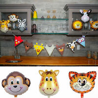 5pcs Animal Head Shape Foil Balloon Zoo Birthday Party Supply Baby Decor-AU