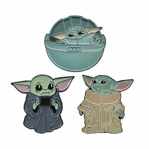 The Mandalorian Baby Yoda Helmet Figure Toy Hard Enamel Pin Badge Brooch