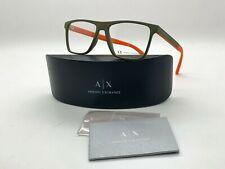 Armani Exchange AX3055 8272 OLIVE GREEN ORANGE Eyeglasses 55/16/145M CASE CLOTH