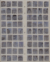 SG 157, 2 1/2d blue plate 23. GB Victorian postage stamp Full reconstruction.