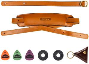 M33 Genuine Leather Traditional Vintage Classic Shoulder Pad Guitar Strap