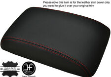 RED STITCHING ARMREST LID LEATHER COVER FITS HYUNDAI SANTA FE 2006-2012
