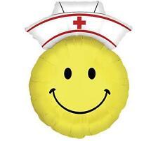 "XL 30"" Smiley Face Nurse RN Graduation PARTY Red Cross Balloon FREE SHIPPING"