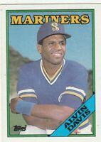 FREE SHIPPING-MINT-1988 Topps Seattle Mariners  #785 Alvin Davis +BONUS CARDS