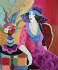 Modern Itzchak Tarkay Abstract Oil Painting Repro Living Room Canvas Wall art 51