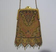 New listing Vintage Antique Whiting & Davis Art Nouveau Beadlite Enameled Mesh Purse Bag