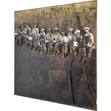 3D Metallbild Bauarbeiter Wandbild 100 x 100 cm Bild Workers Manhattan New York
