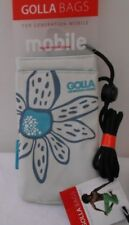 GOLLA Bags for Generation Mobile Smart Phone Case Camera Pouch Gray Teal Floral