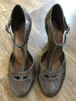 Monsoon Vintage Brown Strappy Sandals Heels Size 5 eU 38