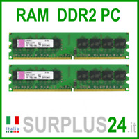 KINGSTON RAM 4Gb (2x2Gb) PC2-6400U DDR2-800Mhz 240pin Memoria x DESKTOP No Ecc