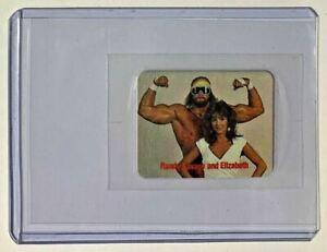 WWF MACHO MAN RANDY SAVAGE & ELIZABETH 1988 Borden Sticker Sealed in plastic wwe