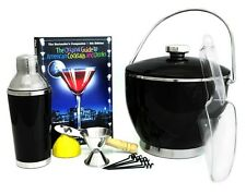 Home Bar Cocktail Set with Ice Bucket for Patio Bar Man Cave Home Bartender