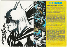 Neal Adams SIGNED Original DC Comic Art Sketch Card ~ Batman The Dark Knight