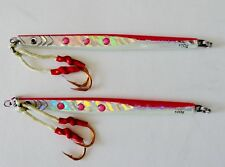 Qty 2 Speed Jigs 3.5oz/100g Pink Vertical Butterfly Saltwater Fishing Lures