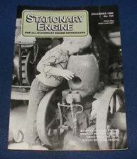 STATIONARY ENGINE MAGAZINE DECEMBER 1986 NO.154 - ENGINES IN EVERY STREET!
