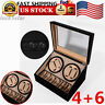 4+6 Automatic Rotation Leather Watch Winder Storage display Case Black