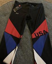Nwt Under Armour Team USA Compression Leggings Womens Size Medium Black J1