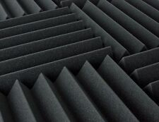 96 Pack Acoustic Wedge Studio Foam Sound Absorption Wall Panels- 1x12x12 Inches.
