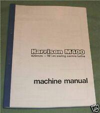 Harrison M400 Lathe Manual
