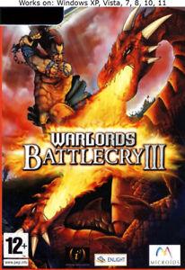 Warlords Battlecry III 3 PC Game Windows XP Vista 7 8 10 11