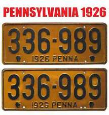 Can Be Registered To An Antique Car Pure White And Translucent Collectibles Automobilia Beautiful Pennsylvania 1926 License Plates Rare Pair