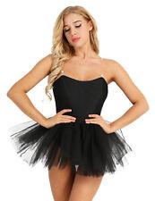 Women's Ballet Dress Sling Ballerina Swan Lake Costumes Tutu Dance Leotard Skirt