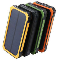 Solar Power Bank 2000000mAh Dual USB Portable Solar Battery Charger For Phone