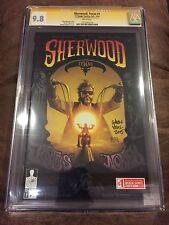 SHERWOOD TEXAS #1 CGC 9.8 SIGNED ANDREW ROBINSON 12-GAUGE COMICS 2014 BERRYHILL