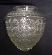 Vintage Bubble Glass Clear Light Shade Acorn Shape Ceiling Globe Embossed Flower