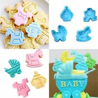 4pcs Plunger Baking Tool Pastry Mould Baby Biscuit Mold Cookie Cutter Fondant