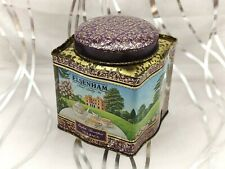 More details for purple and gold with rural scenes-elsenham- vintage tea tin/caddy