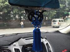 A Set New VIP Car Charm JDM Fusa Blue Kiku JP Knot & Black Kin Tsuna Rope