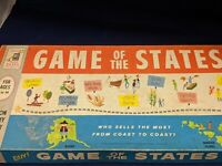 'GAME OF THE STATES' VINTAGE Board Game by Milton Bradley 1960